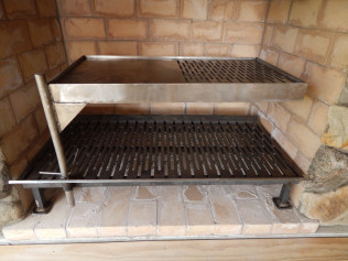 Grates for inside fireplaces & an attachable Grill to cook on!